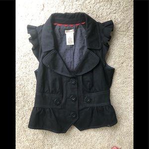 Black vest top size 2 Anthropology